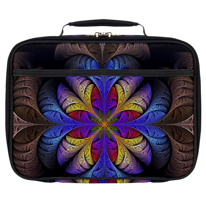 Fractal Flower Fantasy Floral Full Print Lunch Bag