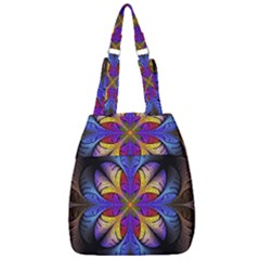 Fractal Flower Fantasy Floral Center Zip Backpack
