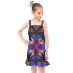 Fractal Flower Fantasy Floral Kids  Overall Dress