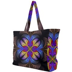 Fractal Flower Fantasy Floral Simple Shoulder Bag