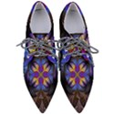 Fractal Flower Fantasy Floral Women s Pointed Oxford Shoes View1