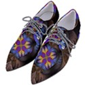 Fractal Flower Fantasy Floral Women s Pointed Oxford Shoes View2