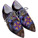 Fractal Flower Fantasy Floral Women s Pointed Oxford Shoes View3