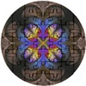 Fractal Flower Fantasy Floral Wooden Puzzle Round View1