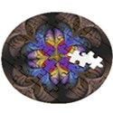 Fractal Flower Fantasy Floral Wooden Puzzle Round View2