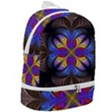 Fractal Flower Fantasy Floral Zip Bottom Backpack View2