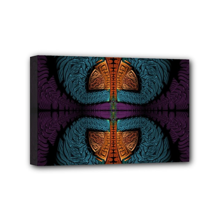 Art Abstract Fractal Pattern Mini Canvas 6  x 4  (Stretched)