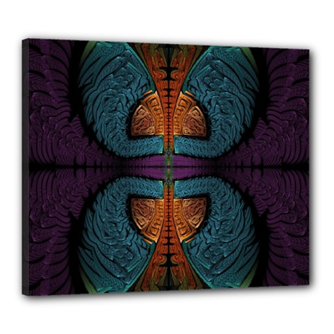 Art Abstract Fractal Pattern Canvas 24  X 20  (stretched)