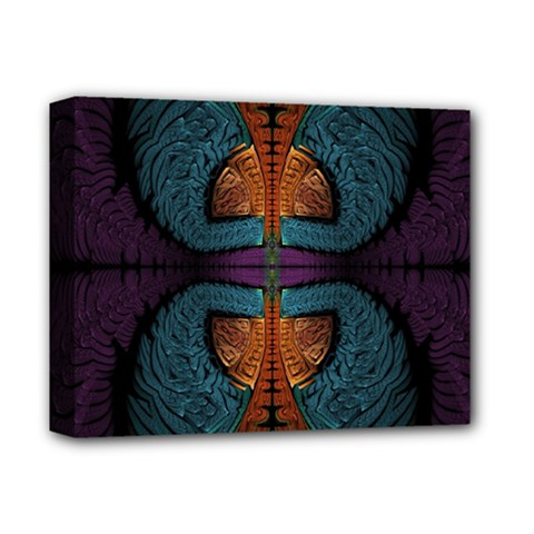 Art Abstract Fractal Pattern Deluxe Canvas 14  X 11  (stretched)