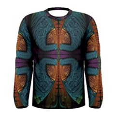 Art Abstract Fractal Pattern Men s Long Sleeve Tee