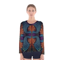 Art Abstract Fractal Pattern Women s Long Sleeve Tee