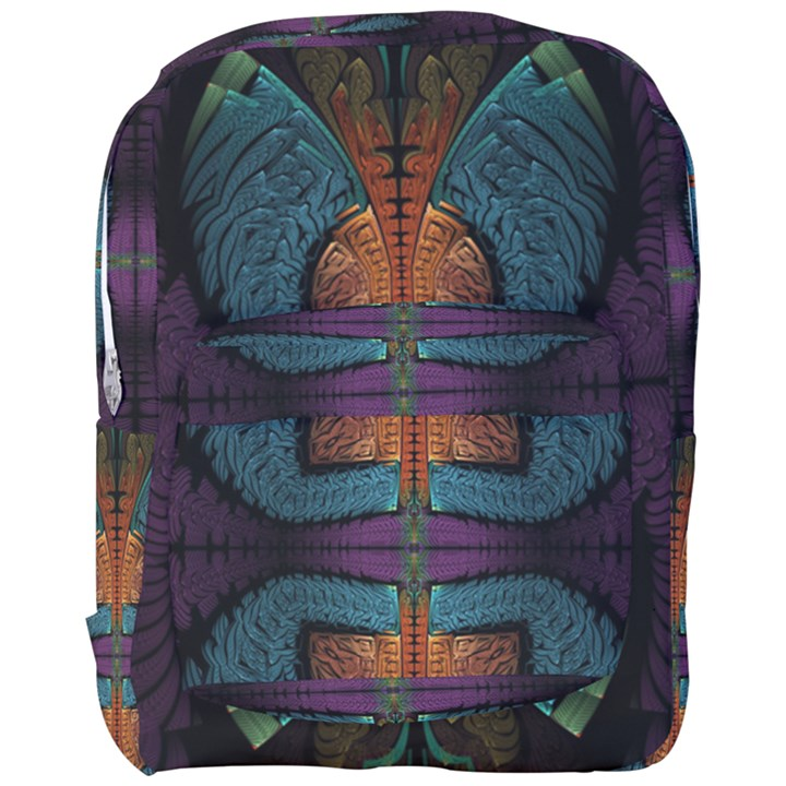 Art Abstract Fractal Pattern Full Print Backpack