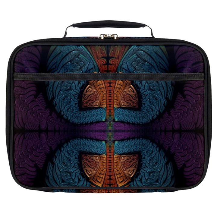 Art Abstract Fractal Pattern Full Print Lunch Bag