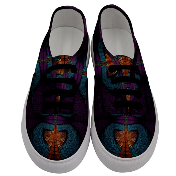 Art Abstract Fractal Pattern Men s Classic Low Top Sneakers