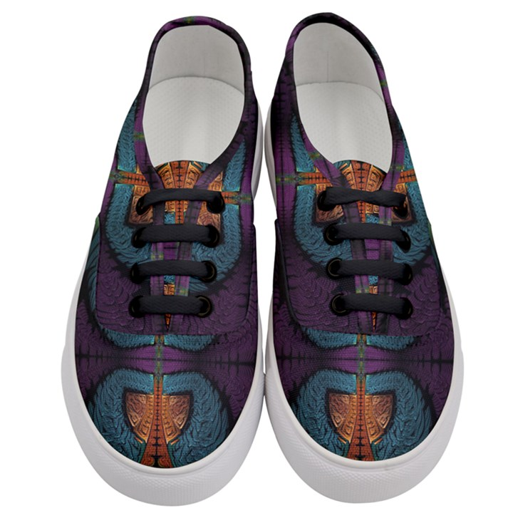 Art Abstract Fractal Pattern Women s Classic Low Top Sneakers