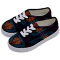 Art Abstract Fractal Pattern Kids  Classic Low Top Sneakers View2