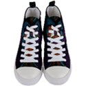 Art Abstract Fractal Pattern Women s Mid-Top Canvas Sneakers View1