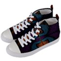 Art Abstract Fractal Pattern Women s Mid-Top Canvas Sneakers View2