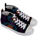 Art Abstract Fractal Pattern Women s Mid-Top Canvas Sneakers View3