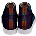 Art Abstract Fractal Pattern Women s Mid-Top Canvas Sneakers View4