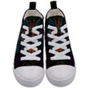 Art Abstract Fractal Pattern Kids  Mid-Top Canvas Sneakers View1
