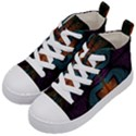 Art Abstract Fractal Pattern Kids  Mid-Top Canvas Sneakers View2