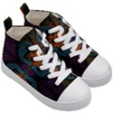 Art Abstract Fractal Pattern Kids  Mid-Top Canvas Sneakers View3