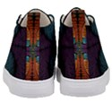 Art Abstract Fractal Pattern Kids  Mid-Top Canvas Sneakers View4