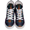 Art Abstract Fractal Pattern Women s Hi-Top Skate Sneakers View1
