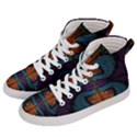 Art Abstract Fractal Pattern Women s Hi-Top Skate Sneakers View2