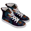 Art Abstract Fractal Pattern Women s Hi-Top Skate Sneakers View3