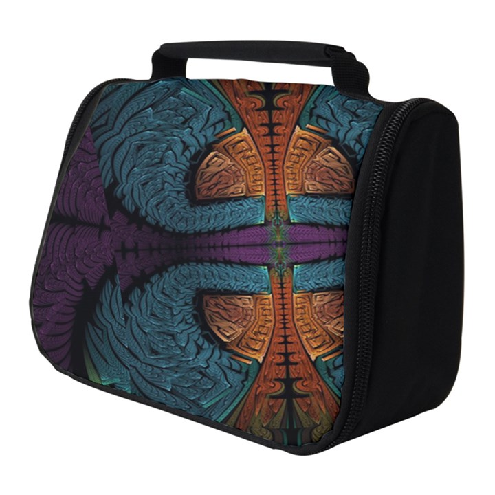 Art Abstract Fractal Pattern Full Print Travel Pouch (Small)