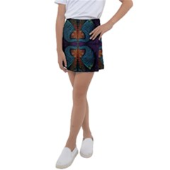 Art Abstract Fractal Pattern Kids  Tennis Skirt by Wegoenart