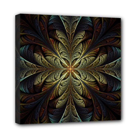 Fractal Art Abstract Pattern Mini Canvas 8  X 8  (stretched)