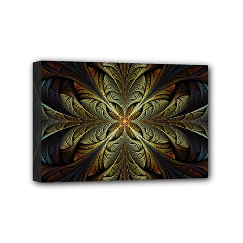 Fractal Art Abstract Pattern Mini Canvas 6  X 4  (stretched)
