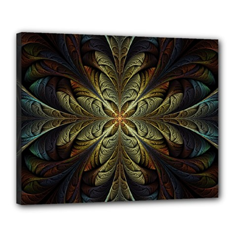 Fractal Art Abstract Pattern Canvas 20  X 16  (stretched) by Wegoenart