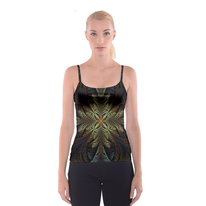 Fractal Art Abstract Pattern Spaghetti Strap Top