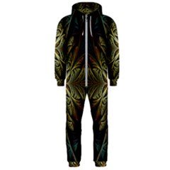 Fractal Art Abstract Pattern Hooded Jumpsuit (men)