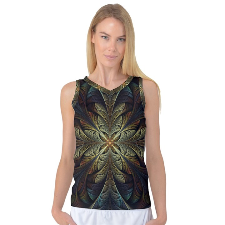 Fractal Art Abstract Pattern Women s Basketball Tank Top
