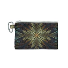 Fractal Art Abstract Pattern Canvas Cosmetic Bag (small) by Wegoenart