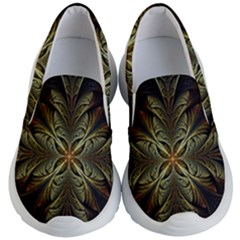 Fractal Art Abstract Pattern Kids Lightweight Slip Ons