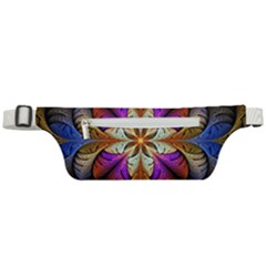 Fractal Flower Fantasy Pattern Active Waist Bag