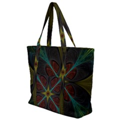Fractal Art Abstract Pattern Zip Up Canvas Bag