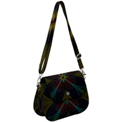 Fractal Art Abstract Pattern Saddle Handbag