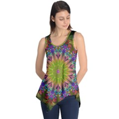 Fractal Abstract Background Pattern Sleeveless Tunic by Wegoenart