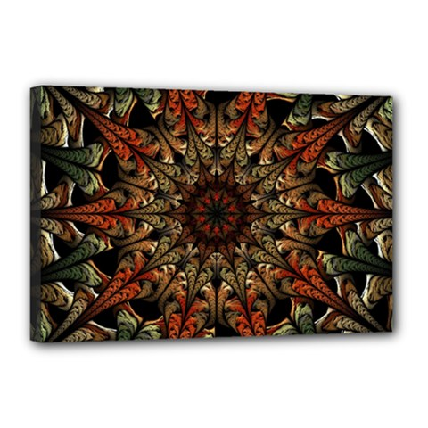 Art Abstract Fractal Pattern Canvas 18  X 12  (stretched) by Wegoenart