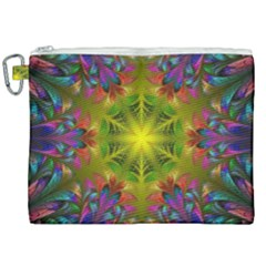 Fractal Abstract Background Pattern Canvas Cosmetic Bag (xxl) by Wegoenart