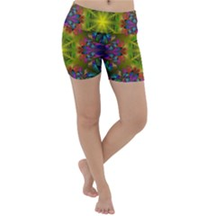 Fractal Abstract Background Pattern Lightweight Velour Yoga Shorts