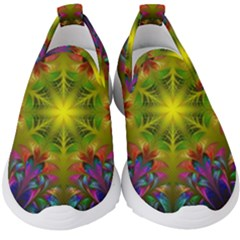 Fractal Abstract Background Pattern Kids  Slip On Sneakers