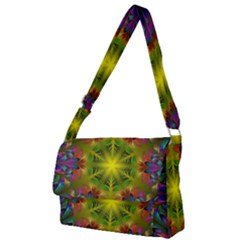 Fractal Abstract Background Pattern Full Print Messenger Bag (l)